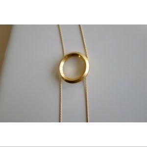 Gold Bolo Tie Necklace